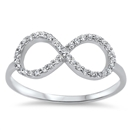 Silver Infinity CZ Ring - $4.76