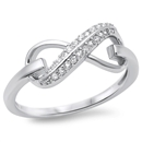 Silver CZ Infinity Ring - $6.74