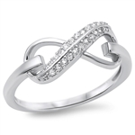 Silver CZ Infinity Ring - $5.38