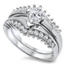 Silver Weding Ring Sets - $11.45