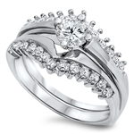 Silver Weding Ring Sets - $9.65