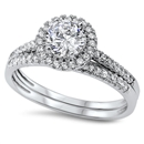 Silver Weding Ring Set - $9.79