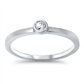 Silver CZ Ring - $4.06