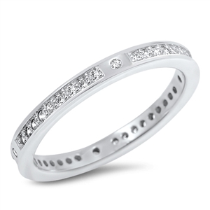 Silver CZ Ring - $5.64