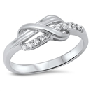 Silver CZ Ring - $4.25
