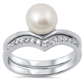 Silver Weding Ring Sets - $8.58