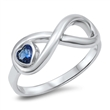 Silver CZ Ring - Heart Infinity - $7.46