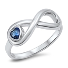 Silver CZ Ring - Heart Infinity - $6.78