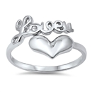 Silver CZ Ring - Love U - $5.36