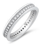 Silver CZ Ring - $6.25