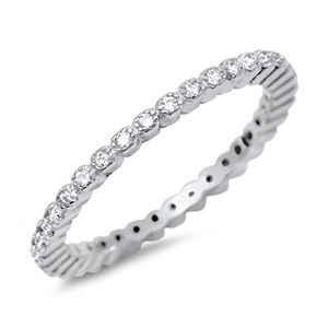 Silver CZ Ring - $4.89