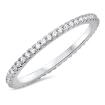 Silver CZ Ring - $4.05