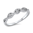 Silver CZ Ring - Wraparound All Seeing Eyes - $4.57