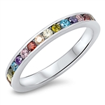 Silver CZ Ring - Eternity - $5.15