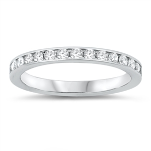 Silver Eternity Ring - $4.88