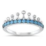 Silver CZ Ring - Crown - $5.24