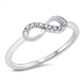 Silver CZ Ring - Infinity - $3.19