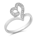 Silver CZ Ring - Heart - $4.90