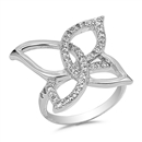 Silver CZ Ring - Butterfly - $7.80