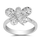 Silver CZ Ring - Butterfly - $5.75