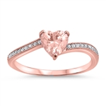 Silver CZ Ring - Heart - $6.04