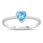 Silver CZ Heart Ring - $3.62