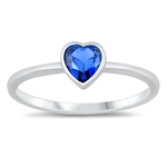 Silver CZ Ring - Heart - $3.40