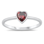 Silver CZ Ring - Heart - $3.05