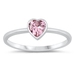 Silver CZ Heart Ring - $3.03