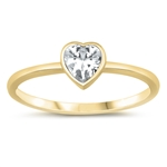 Silver CZ Ring - Heart - $3.58
