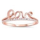 Silver CZ Ring - Love - $5.57