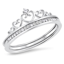 Silver CZ Ring - Crown - $10.84