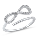 Silver CZ Ring - Infinity - $5.29
