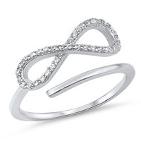 Silver CZ Ring - Infinity - $4.81