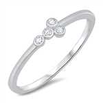 Silver CZ Ring - $2.80