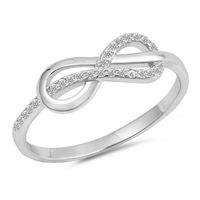 Silver CZ Ring - Infinity Knot - $4.37