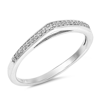 Silver CZ Ring - $3.90