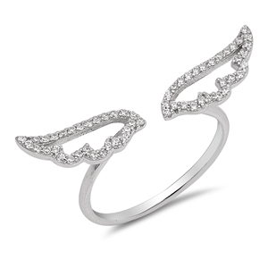Silver CZ Ring - Wings - $5.66
