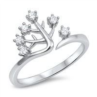 Silver CZ Ring - Tree - $4.54