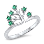 Silver CZ Ring - Tree - $4.73
