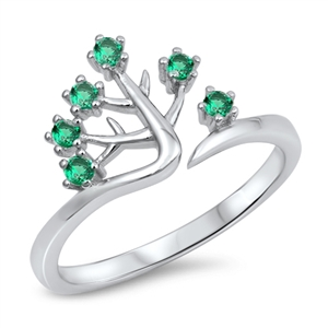 Silver CZ Ring - Tree - $4.85