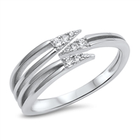 Silver CZ Ring - $5.25