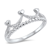 Silver CZ Ring - Crown - $4.05