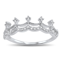 Silver CZ Ring - Crown - $4.40