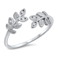 Silver CZ Ring - Ferns - $3.50