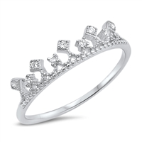 Silver CZ Ring - Crown - $3.27
