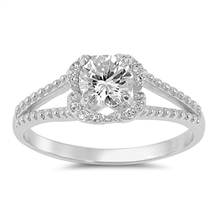 Silver CZ Ring - $5.88
