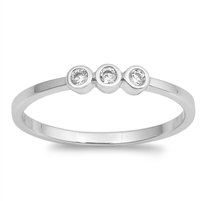 Silver CZ Ring - $3.15