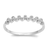 Silver CZ Ring - $3.94