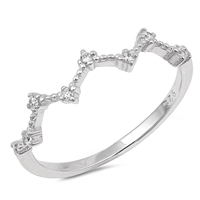 Silver CZ Ring - Constellation - $3.10
